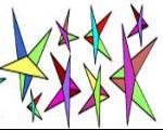 ستاره های چشمک زن ( کاردستی )