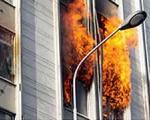 صبح امروز بانك انصار خیابان سخایی در آتش سوخت