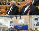 اعطای نشان لیاقت و شجاعت به ظریف و صالحی (+عکس)