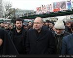 احمدی نژاد و قالیباف در تشییع شهدا +عکس