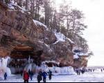 قندیل های یخی دیدنی در غار بی فیلد