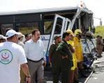 تصادف اتوبوس ۳۱ حاجی را روانه بیمارستان كرد