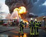 کارخانه نمد بافی آتش گرفت
