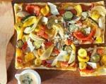 دستور غذایی پیتزای سبزیجات ترش مزه با کدو