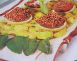 ماهی سالمون کنجدی با سس لیمو