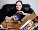 دختری كه فقط پیتزا میخورد!