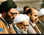 عکس: آیت الله منتظری در کنار رهبر انقلاب