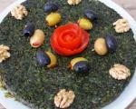 طرز تهیه کوکوی سبزی کوهی