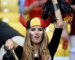 شهرت دختر بلژیکی هوادار فوتبال/تصاویر