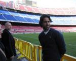 مجیدی در تمرینات بارسلونا/حضور فرهاد در کنار ستارههای اسپانیا