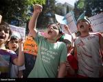 تصاویری از تجمع اعتراضی کودکانه در تهران