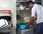 ظرفشویی عاقبت قهرمان جودو/تصاویر