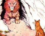 داستان شیر بد جنس و روباه  باهوش