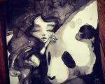 هنرآفرینی با جوهر سیاه + عکس