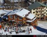 مسابقات اسکی آلپاین در دربند +عکس