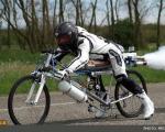 رکوردزنی دوچرخه موشکی+تصویر