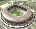 توپ فوتبال با قطر ۱۵ متر در آفریقای جنوبی، بزرگترین توپ دنیا شد
