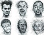 """افراد مشهور مبتلا به """"خوانش پریشی"""" در مداد نقاشی هنرمند مالزیایی"""