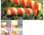 تزیین هویج به شکل ماکارونی