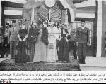 عکسی از عروسی محمدرضا پهلوی و فوزیه