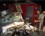 یک کشته و 4 مجروح در حادثه برخورد کامیون و 2 دستگاه پژو