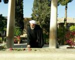 روحانی در حافظیه + تصاویر