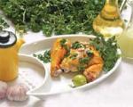 خوراک مرغ با سیر و لیمو