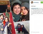 تصویر بازیگر ایرانی و مادر آمریکاییاش