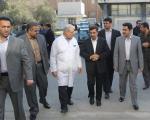 داماد احمدی نژاد همراه وی در بازدید از بیمارستان سینا+ عکس