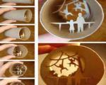 ساخت آثارهنری داخل رول دستمال کاغذی