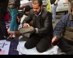 عکس: واکس صلواتی در راهپیمایی 22 بهمن