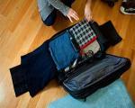 جلوگیری از چروک شدن لباسها در چمدان