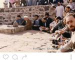 عکس: آیت الله هاشمی در قبرستان بقیع
