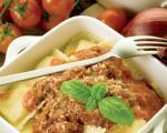راویولى با ساسج ایتالیایى و سس گوشت