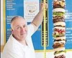 همبرگر یک متر و 60 سانتیمتری! + عکس