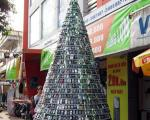 ساخت درخت کریسمس از تلفن همراه