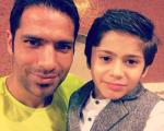 مدافع استقلال در کنار پسرش + عکس