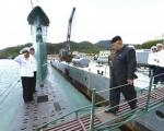 عکس: کیم جونگ اون ناخدای زیردریایی!