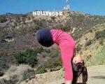 دختر جوانی که بدون پا ژیمناستیک کار میکند! +تصاویر