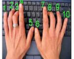 روش تایپ 10 انگشتی با صفحه کلید