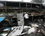 ۲۰ کشته در آتش سوزی اتوبوس همراهان عروس