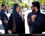 لیلا حاتمی و مهناز افشار در مراسم ختم پدر حامد بهداد + تصاویر