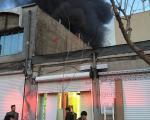 انبار چوب در پل چوبی آتش گرفت+عکس