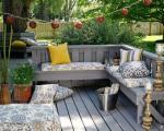 مبلمان و طراحی دکوراسیون فضای بیرونی و باغچه منزل