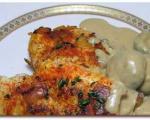 مرغ سرخ كرده با سس قارچ