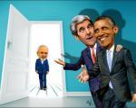 دو کاریکاتور متفاوت از دیدار اتفاقی ظریف و اوباما!
