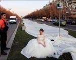 طولانی ترین لباس عروس جهان! + عکس