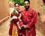 تیپ متفاوت و دیدنی بابک جهانبخش و همسرش در روستا +عکس