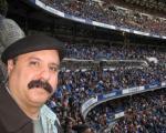 شاعر ایرانی در سانتیاگو برنابئو! +عكس