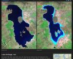 تصاویر ماهواره ای ناسا: احتمال خشک شدن کامل دریاچه ارومیه تا پایان 2013